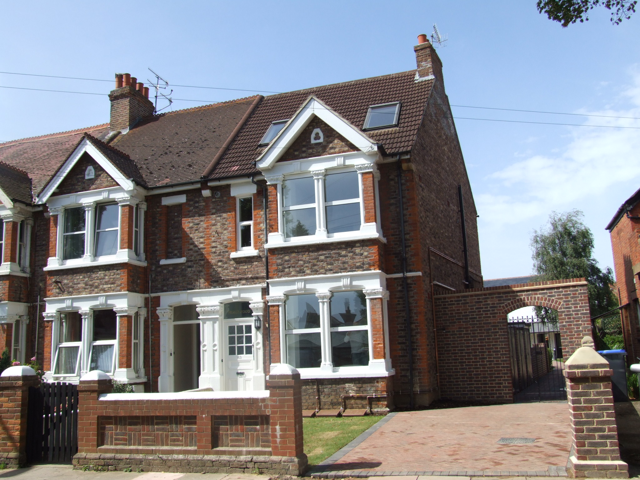 A former semi-detached house converted into 5 flats